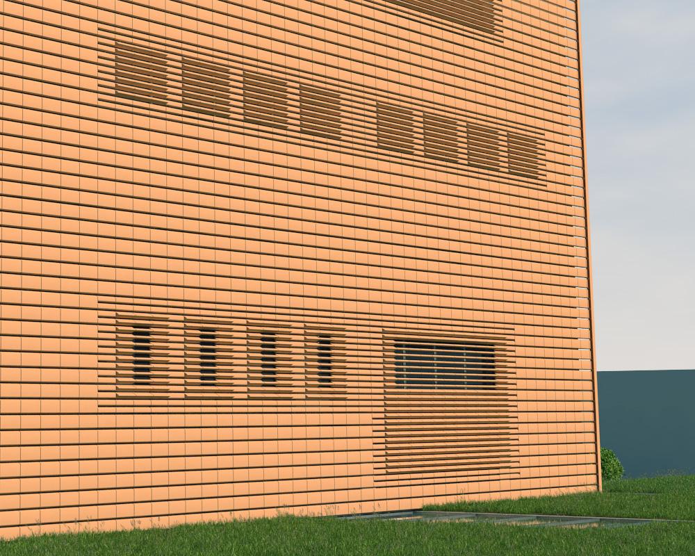 Dettaglio parete edificio fitness